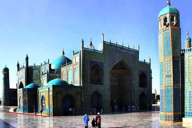 Blue Mosque, Mazar-i-Sharif, Afghanistan