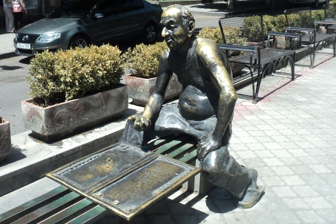 Monument to Backgammon Player, Yerevan, Armenia