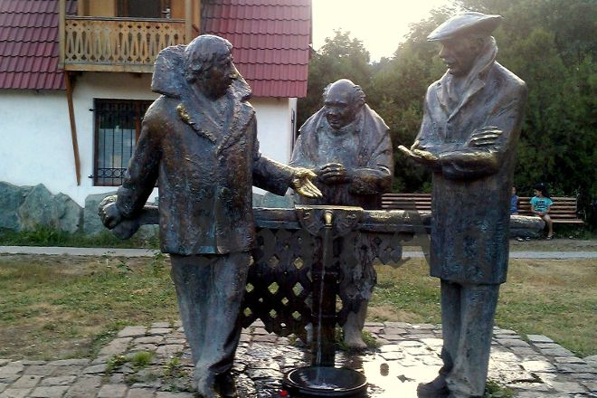 Monument to the Heroes of the Film Mimino, Dilijan, Armenia