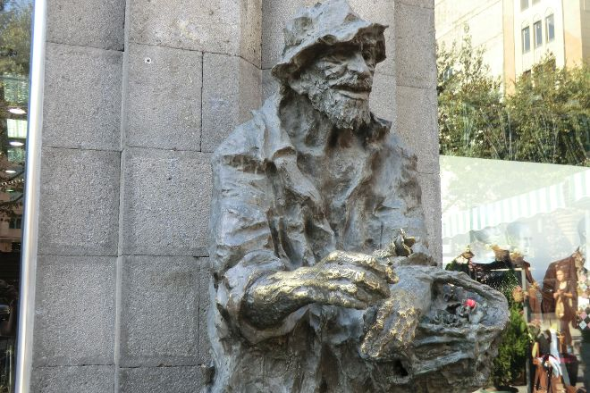 Sculpture of Karabaly/Prodavtsa Tsvetov, Yerevan, Armenia