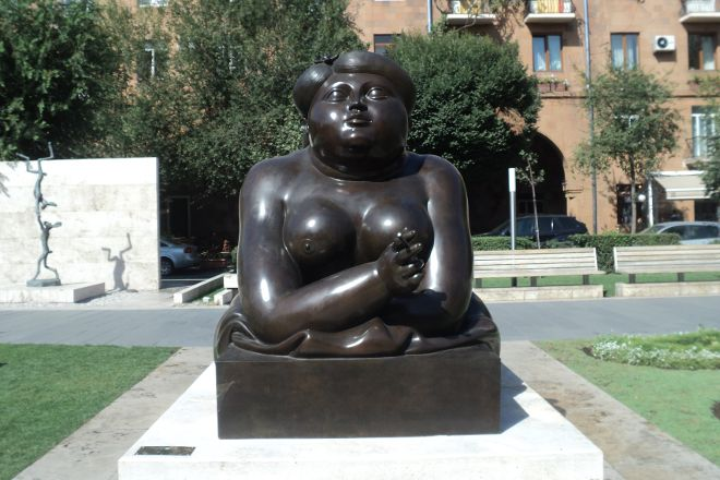 Smoking Woman, Yerevan, Armenia