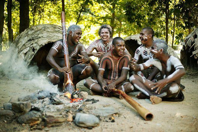 Tjapukai Aboriginal Cultural Park, Caravonica, Australia