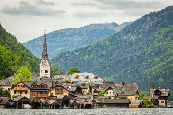 Badestrand Hallstatt, Hallstatt, Austria