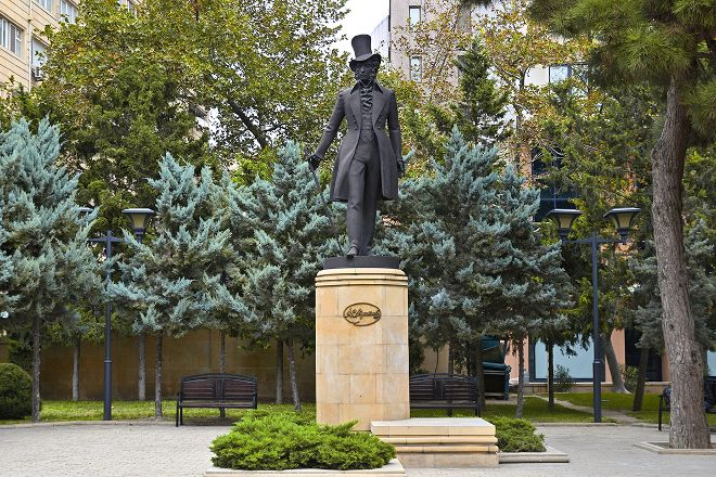 Pushkin Statue, Baku, Azerbaijan