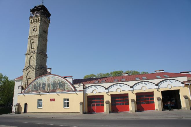 The Watchtower of the fire department and a Fire Museum, Grodno, Belarus