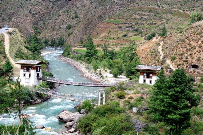 Paro River, Paro, Bhutan
