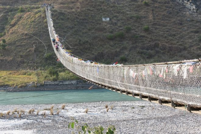 Punakha Suspension Bridge, Punakha, Bhutan