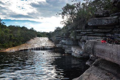 Poco do Diabo Waterfall, Lencois, Brazil