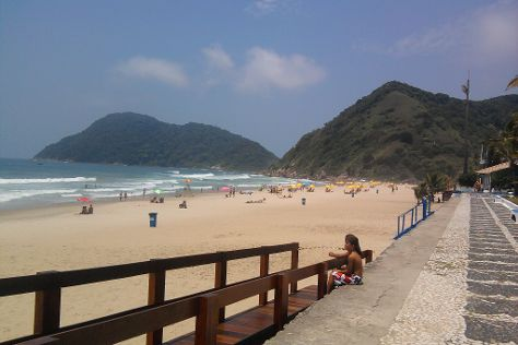 Tombo beach, Guaruja, Brazil