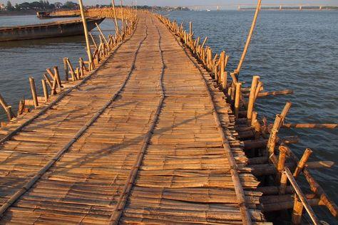 Ko Paen Bamboo Bridge, Kampong Cham, Cambodia
