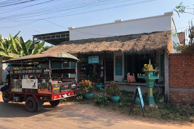 Cambodia on a Solex, Siem Reap, Cambodia