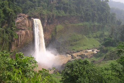 Ekom-Nkam Waterfalls, Melong, Cameroon