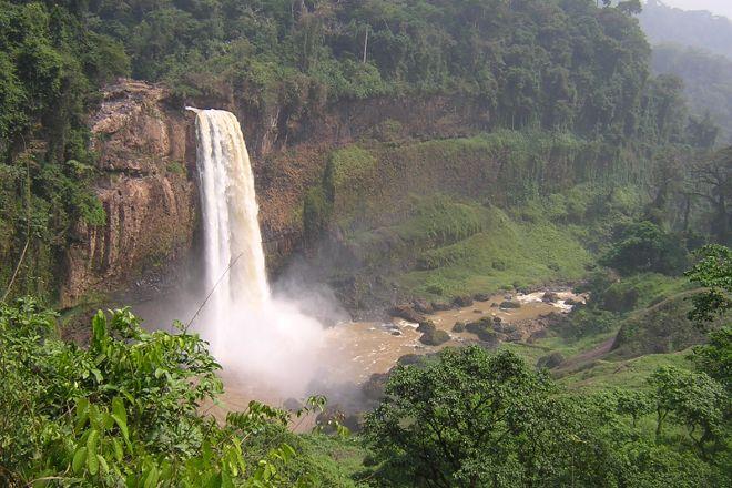 Ekom-Nkam Waterfalls, Melong, Cameroon