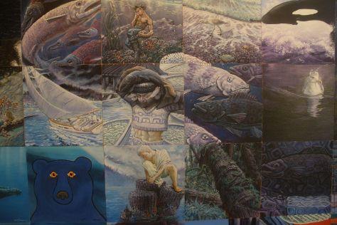Kunamokst Mural, Galiano Island, Canada