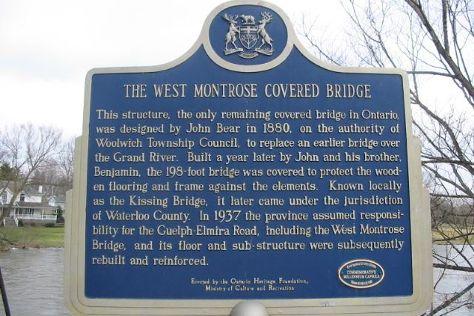West Montrose Covered Bridge (Kissing Bridge), Waterloo, Canada