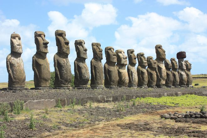 Ahu Tongariki, Easter Island, Chile