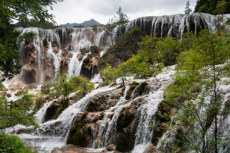 Pearl Shoal Waterfalls, Jiuzhaigou County, China
