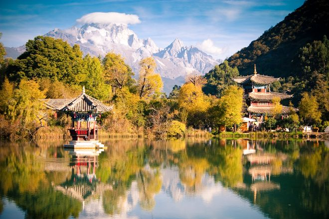 Black Dragon Pond Park, Lijiang, China