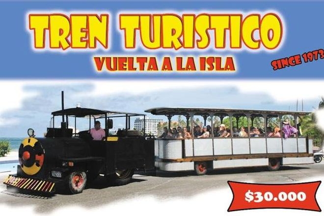 Tourist Train, San Andres Island, Colombia