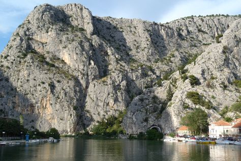 Omis and Cetina River, Omis, Croatia