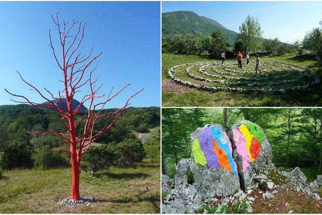 Land Art Trail on Mt. Ucka, Ucka Nature Park, Croatia