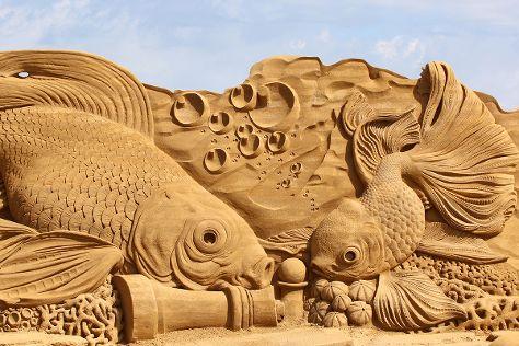 Sandskulpturfestival i Soendervig, Ringkobing, Denmark
