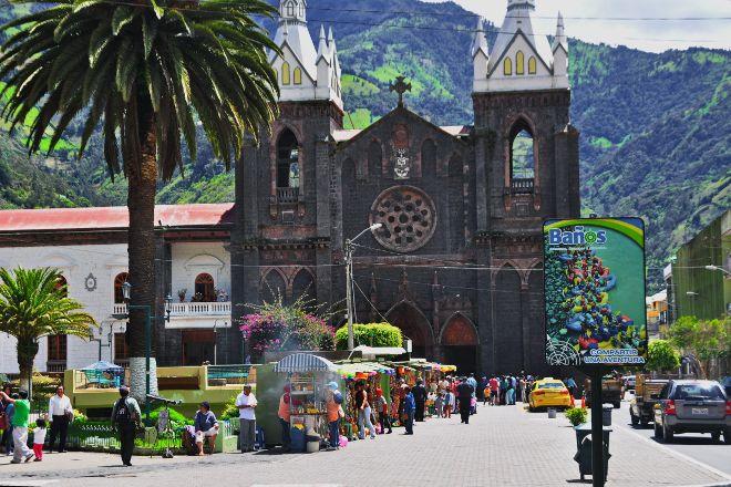 Church of the Virgin of the Holy Water (Nuestra Senora del Agua Santa), Banos, Ecuador