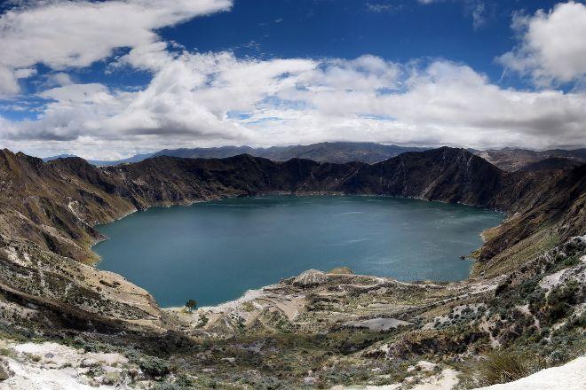 Sendero al Fondo del Crater, Quilotoa, Ecuador