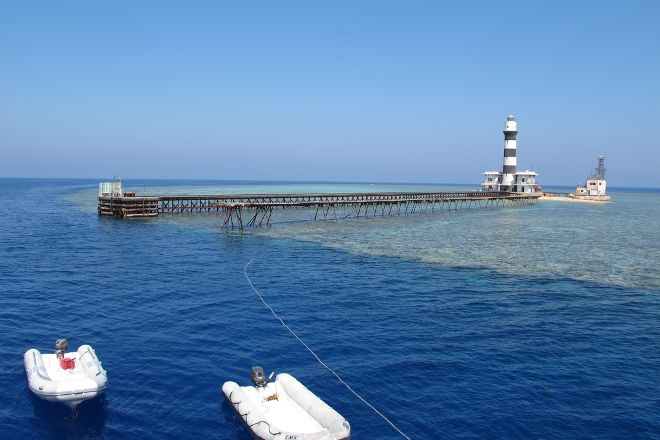 Daedalus Reef Lighthouse, Red Sea and Sinai, Egypt