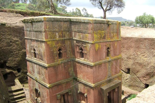 Bilbala St. George Rock Hewn Church, Lalibela, Ethiopia
