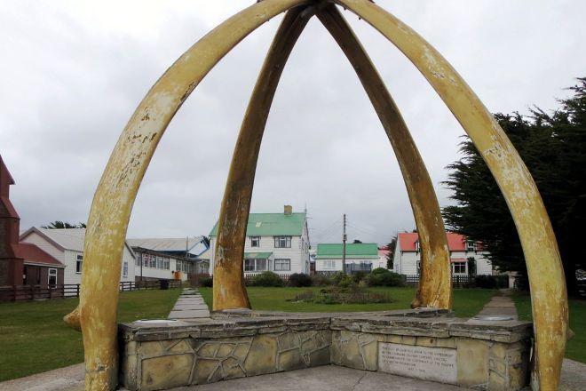 Whalebone Arch, Stanley, Falkland Islands