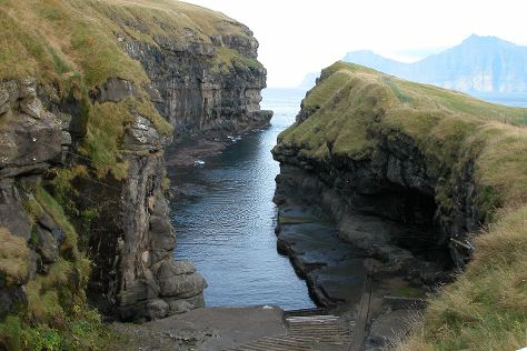 Cleft Of Gjogv, Gjogv, Faroe Islands