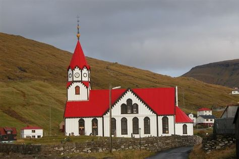 Sandavagur Church, Sandavagur, Faroe Islands