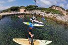 Paddling in Antibes