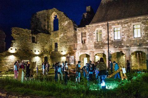 Abbey Bon Repos, Saint-Gelven, France