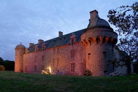 Chateau de Kergroadez, Breles, France