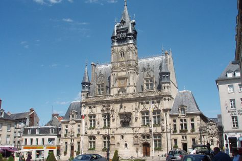 Hotel de ville de Compiegne, Compiegne, France