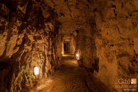 La Cite souterraine de Naours, Naours, France