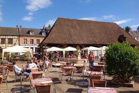 La Place de la Halle, Lyons-la-Foret, France