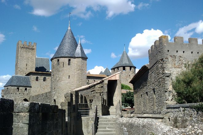 Chateau et Remparts de la Cite de Carcassonne, Carcassonne Center, France