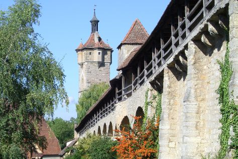Town Walls, Rothenburg, Germany
