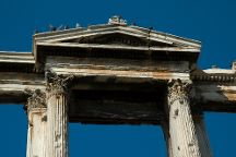 Arch of Hadrian (Pili tou Adrianou), Athens, Greece