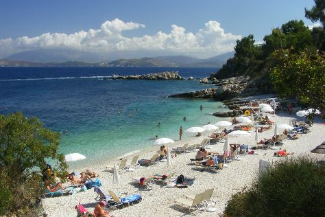Bataria Beach, Kassiopi, Greece