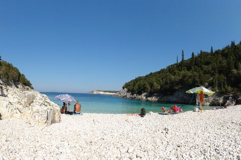 Dafnoudi Beach, Fiscardo, Greece