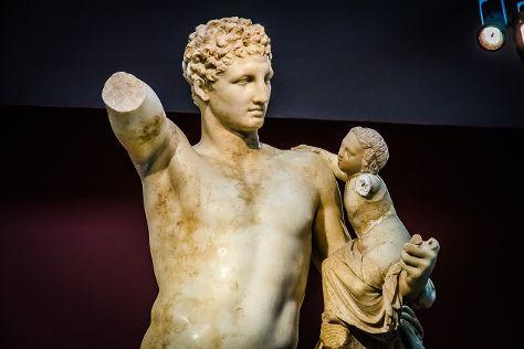 Hermes by Praxiteles, Olympia, Greece
