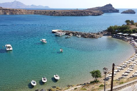 Lindos Beach, Lindos, Greece