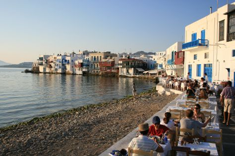 Little Venice, Mykonos Town, Greece