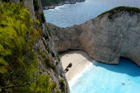 Navagio Beach (Shipwreck Beach), Anafonitria, Greece