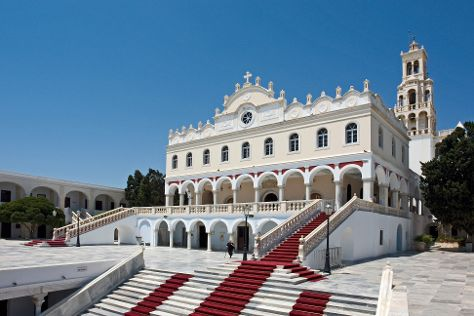 Panayia Evanyelistria Cathedral and Museums, Tinos, Greece