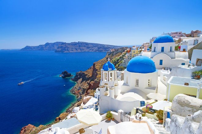 Blue Shades Of Greece, Fira, Greece